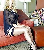 stockings silk negligee
