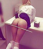 schoolgirl caned