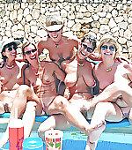 shot poolside group