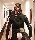 pants dancing latex