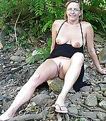 wife posing outdoor