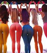 pants yoga pushing