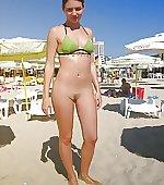 beach posing bottomsnatcher