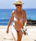 blonde beach busty