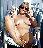 blonde milf balcony