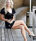 blonde cougar leggy