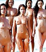 brunette babes six