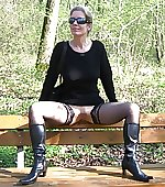 Mom posing openair