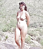 Naked wife outdoor