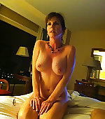 Morose naked wife