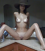 Left her hat on