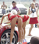Cheerleader car wash