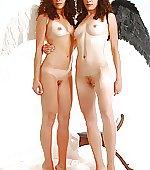 Twin sisters tina