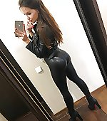 Hot ass in leather