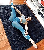 She can stretch