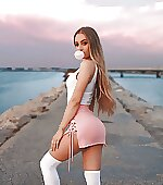 Tiny pink skirt
