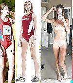 Tall runner girl