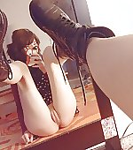 Goth girl mirror