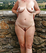 Naked wife posing