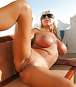 Blonde wife outdoor