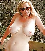 Busty mom posing
