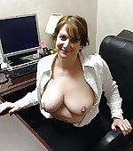 Busty wife in her